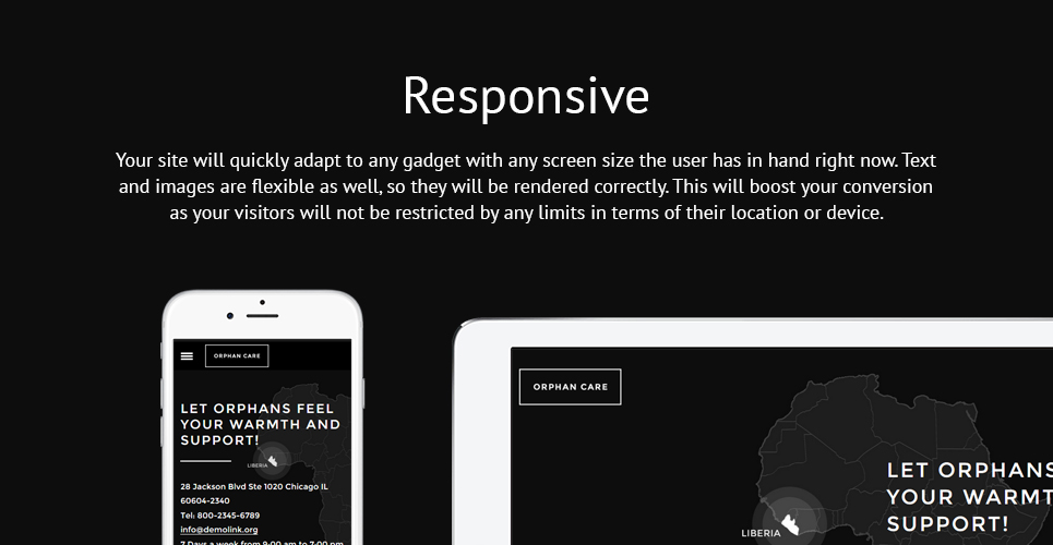 Orphan Care  Responsive Website Template