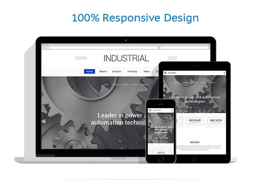 Modèles HTML5 Industriel #57908