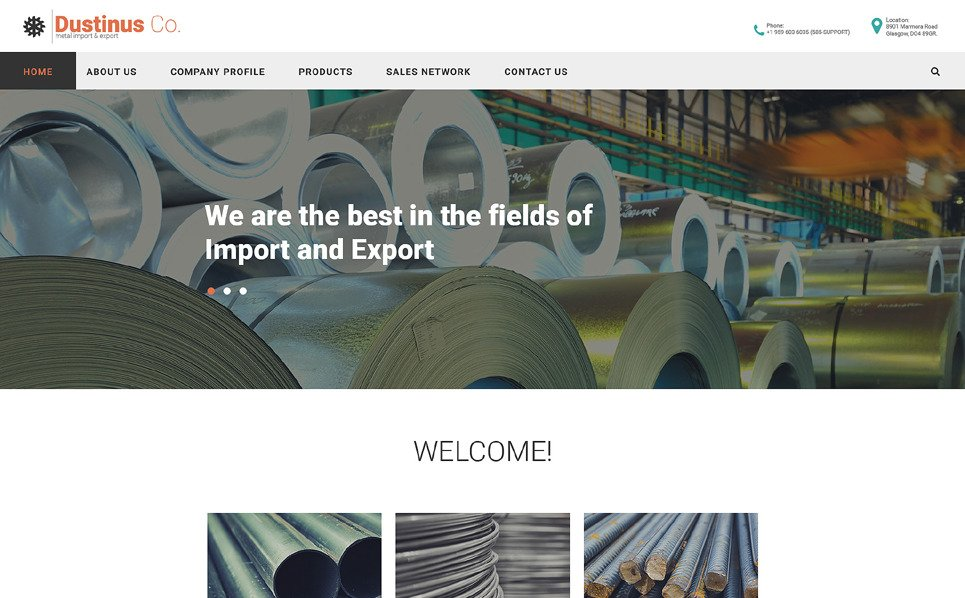 Responsive Website Vorlage für Industrie  New Screenshots BIG