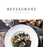 Cafe & Restaurant Newsletter  Template 57923