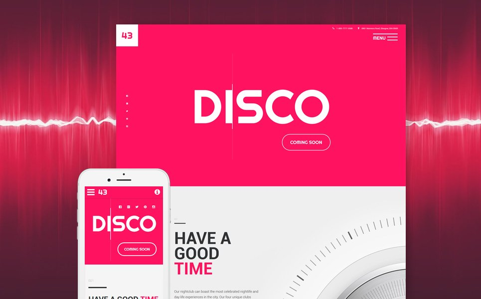 Disco template illustration image