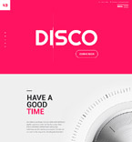 Night Club Website  Template 57934