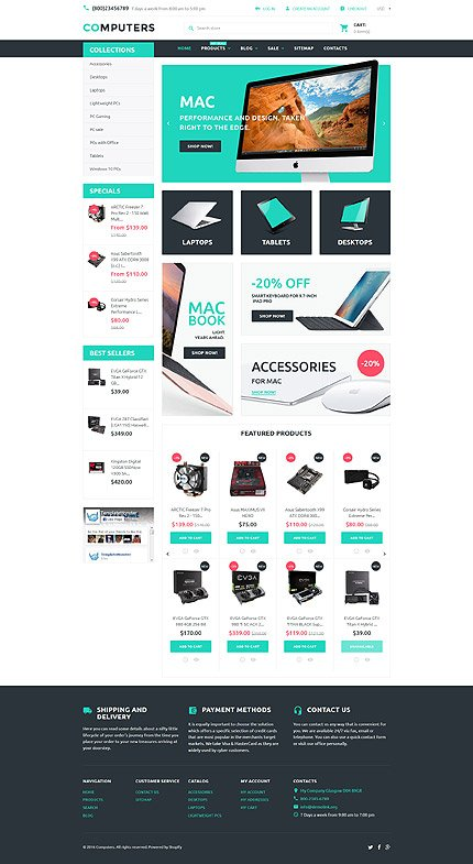 ADOBE Photoshop Template 57935 Home Page Screenshot