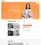 Education Website  Template 57938