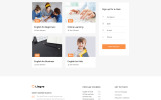 "Modello Siti Web Responsive #57938 ""Lingvo - Language School Multipage Simple HTML5 Bootstrap"""