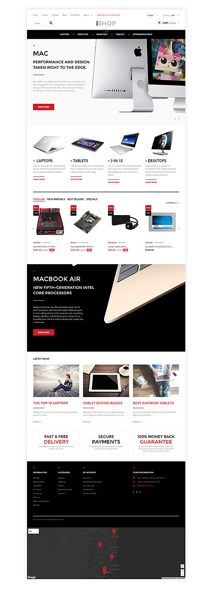 ADOBE Photoshop Template 57939 Home Page Screenshot