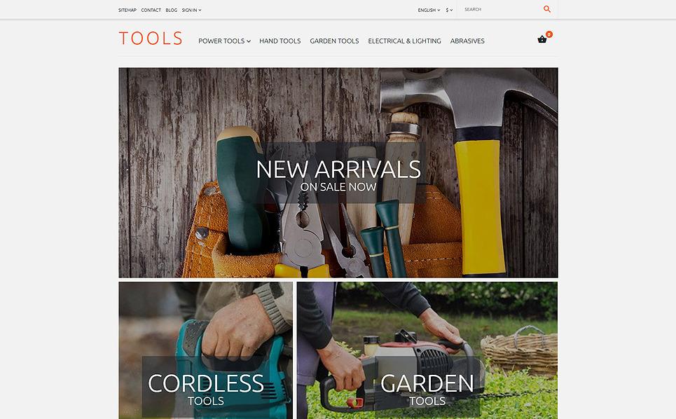 Responsives PrestaShop Theme für Werkzeuge und Geräte  New Screenshots BIG