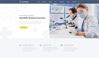 Scientar - Science Lab Multipage HTML Modern Website Template