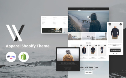 Apparel Responsive Clean Design Shopify Theme