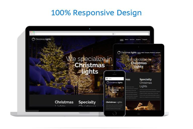 Plantilla Web #57945 para Sitio de Navidad