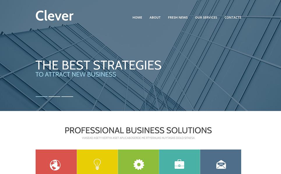 Responzivní Šablona webových stránek na téma Byznys a služby New Screenshots BIG