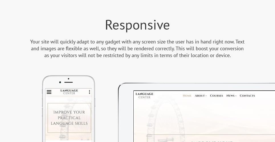 Language Center  Responsive Website Template