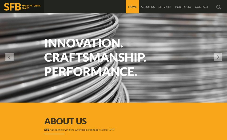 Reszponzív Ipar  Weboldal sablon New Screenshots BIG