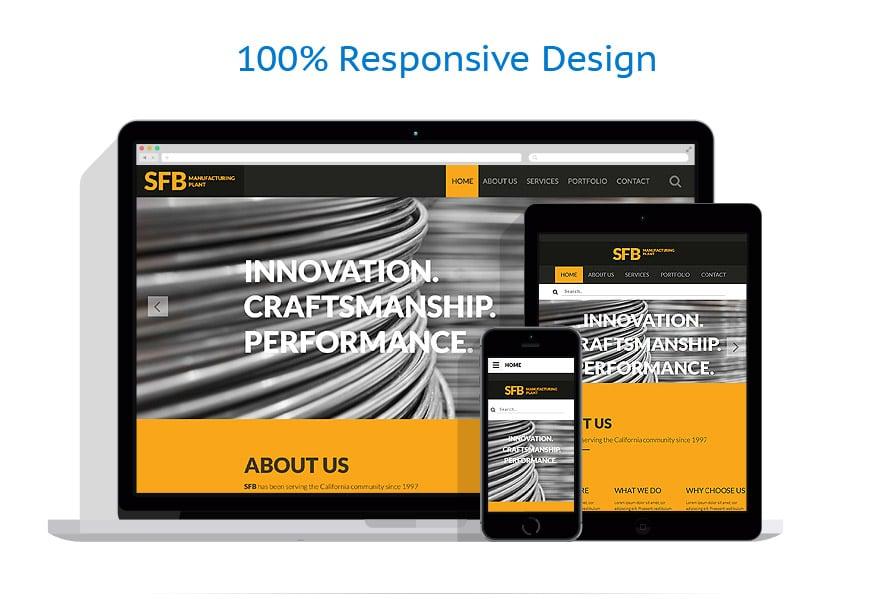 Modèles HTML5 Industriel #57964