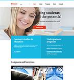 Education Website  Template 57966