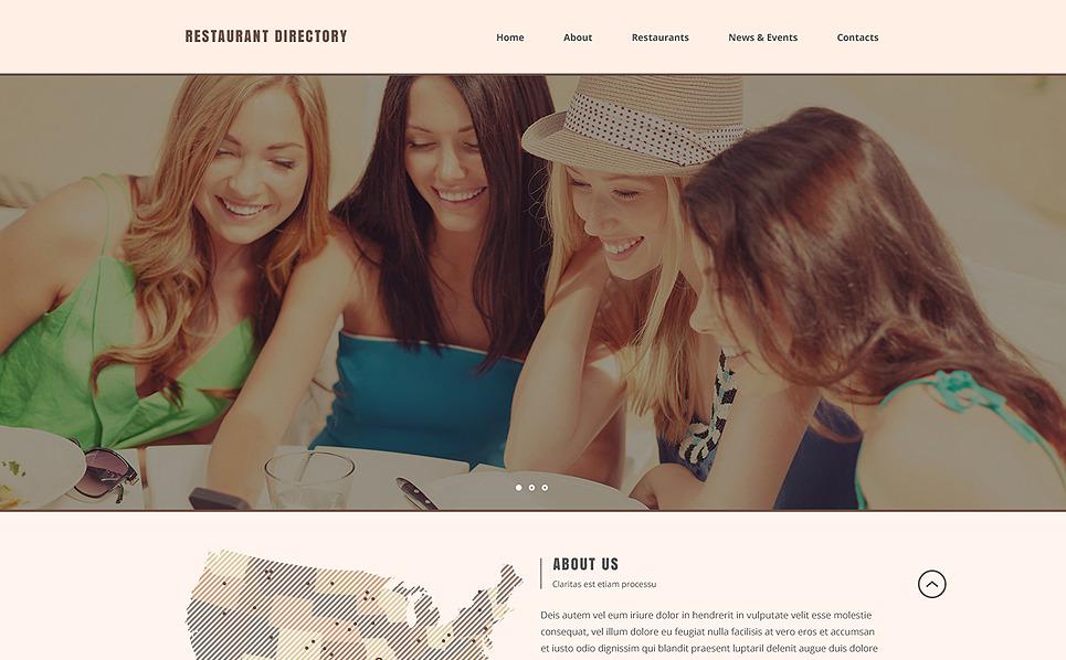 Reszponzív Kávézók és éttermek  Weboldal sablon New Screenshots BIG