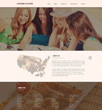Cafe & Restaurant Website  Template 57972
