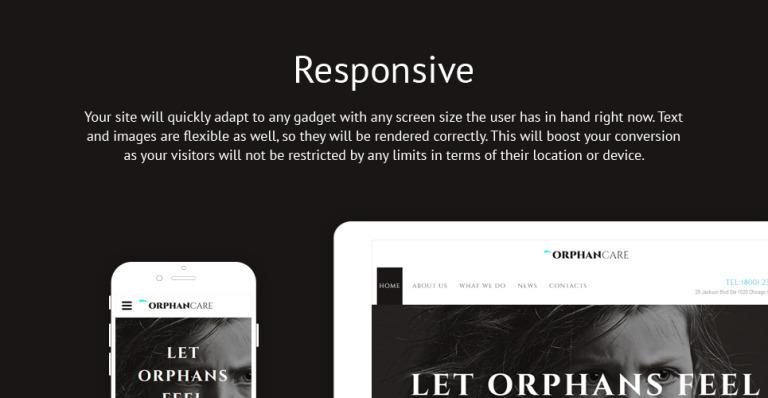 Orphans Website Template