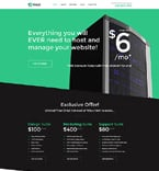 Web Hosting Website  Template 57981