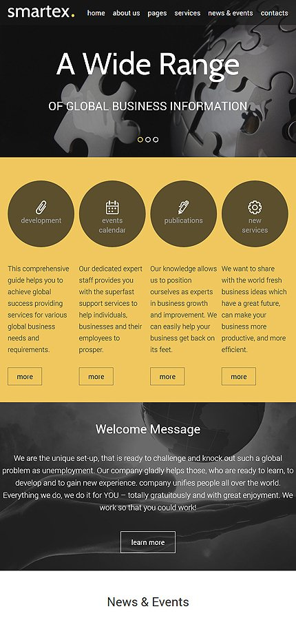 Joomla Theme/Template 57985 Main Page Screenshot