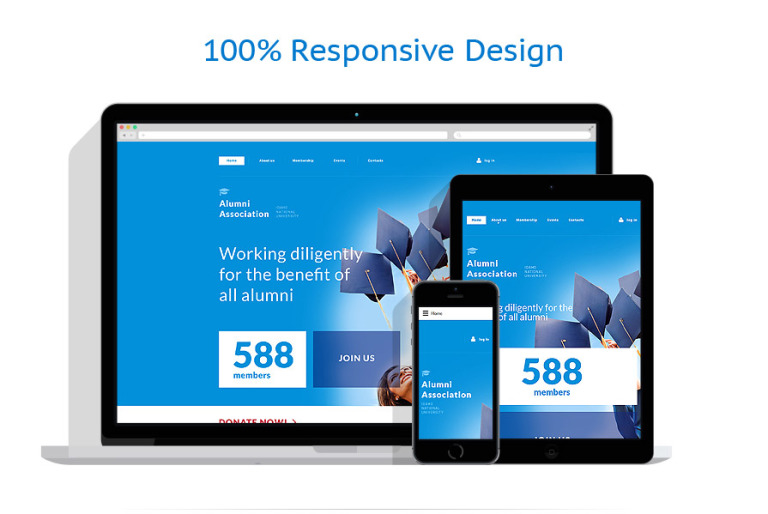 University Responsive Website Template #57990