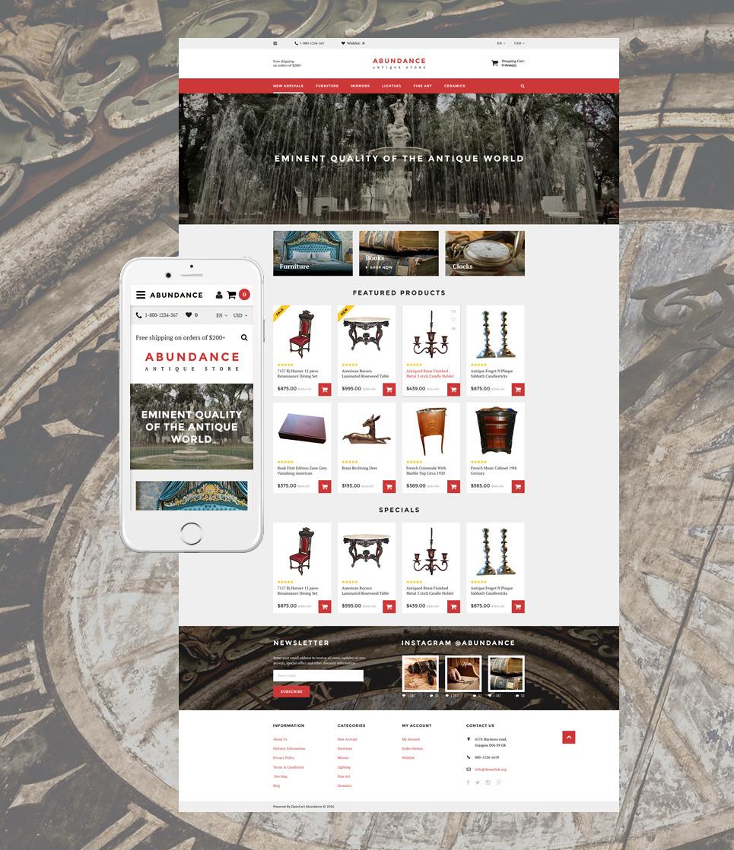 Abundance OpenCart Template New Screenshots BIG