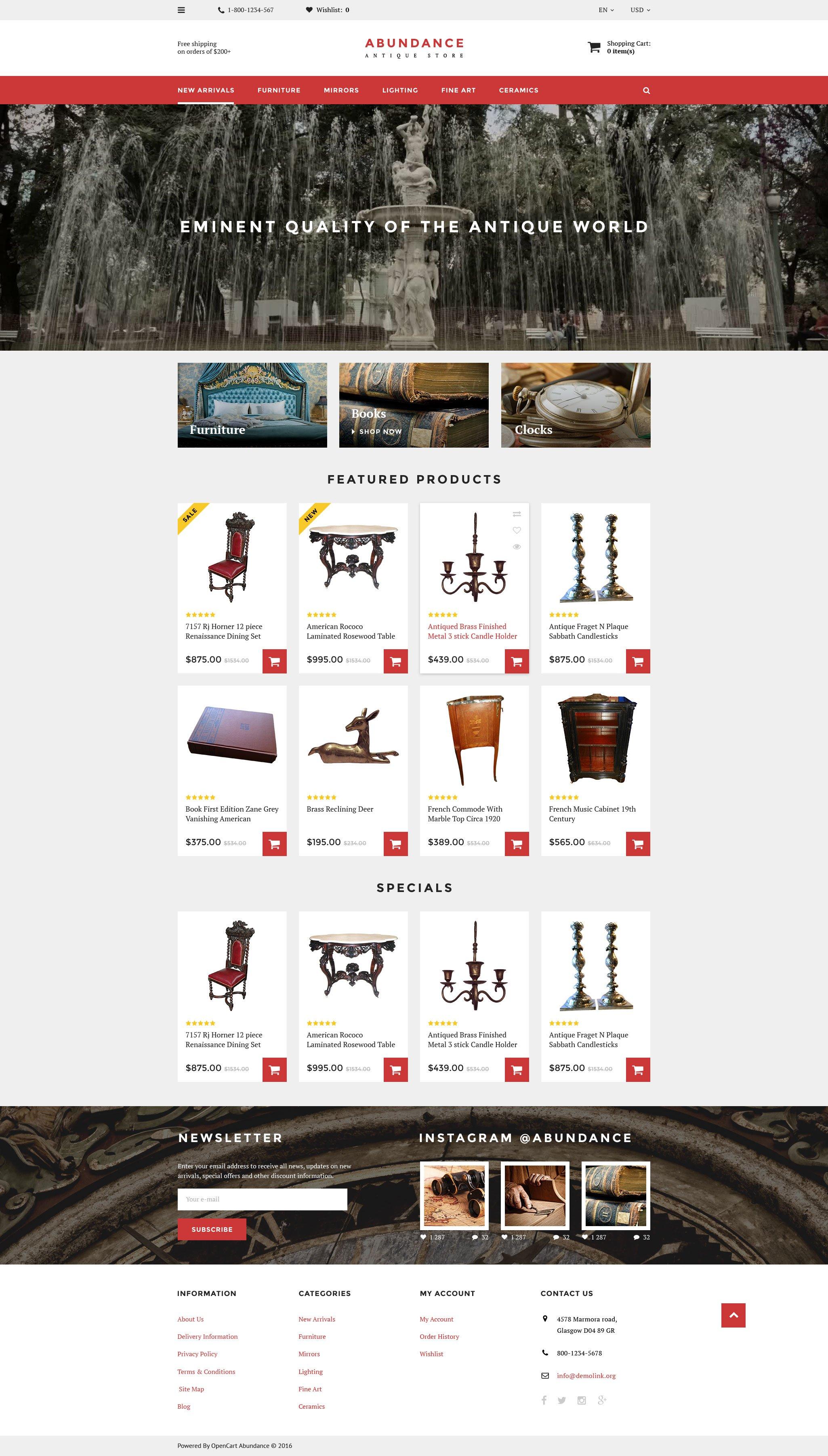 Abundance OpenCart Template - screenshot
