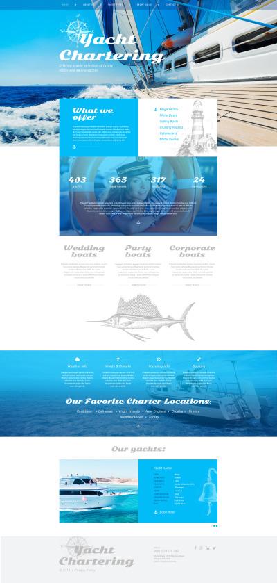 Адаптивный HTML шаблон №57992 на тему яхтинг