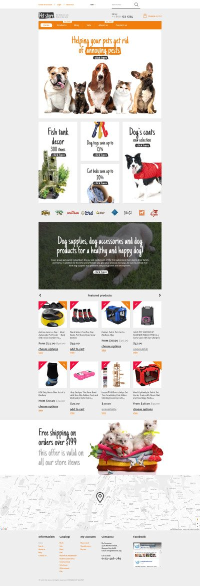 Animals  Pets Shopify Theme #57997