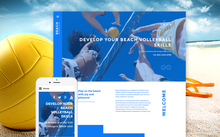 Beach Volleyball Club Joomla Template New Screenshots BIG