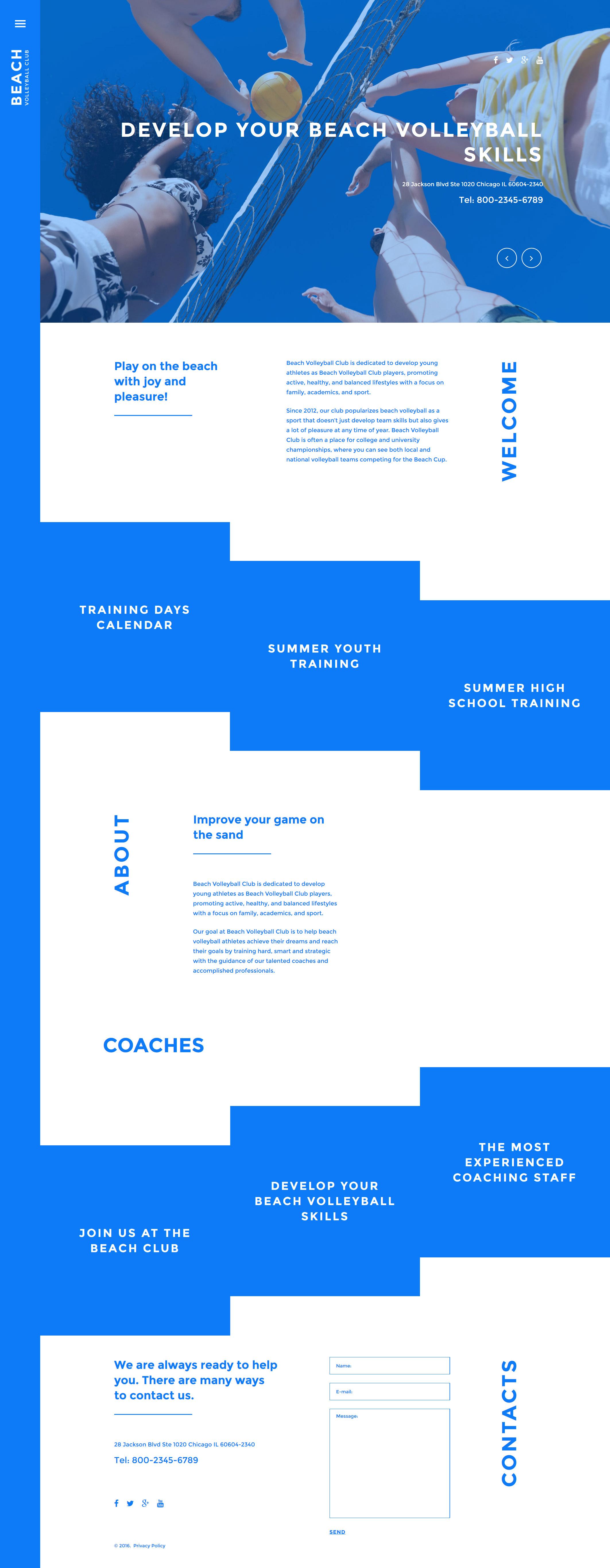 """Beach Volleyball Club"" Responsive Joomla Template №57998"