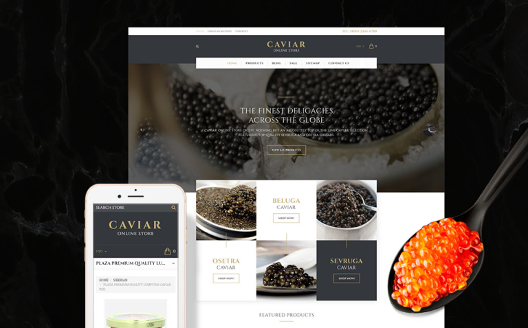 Caviar Shopify Theme New Screenshots BIG
