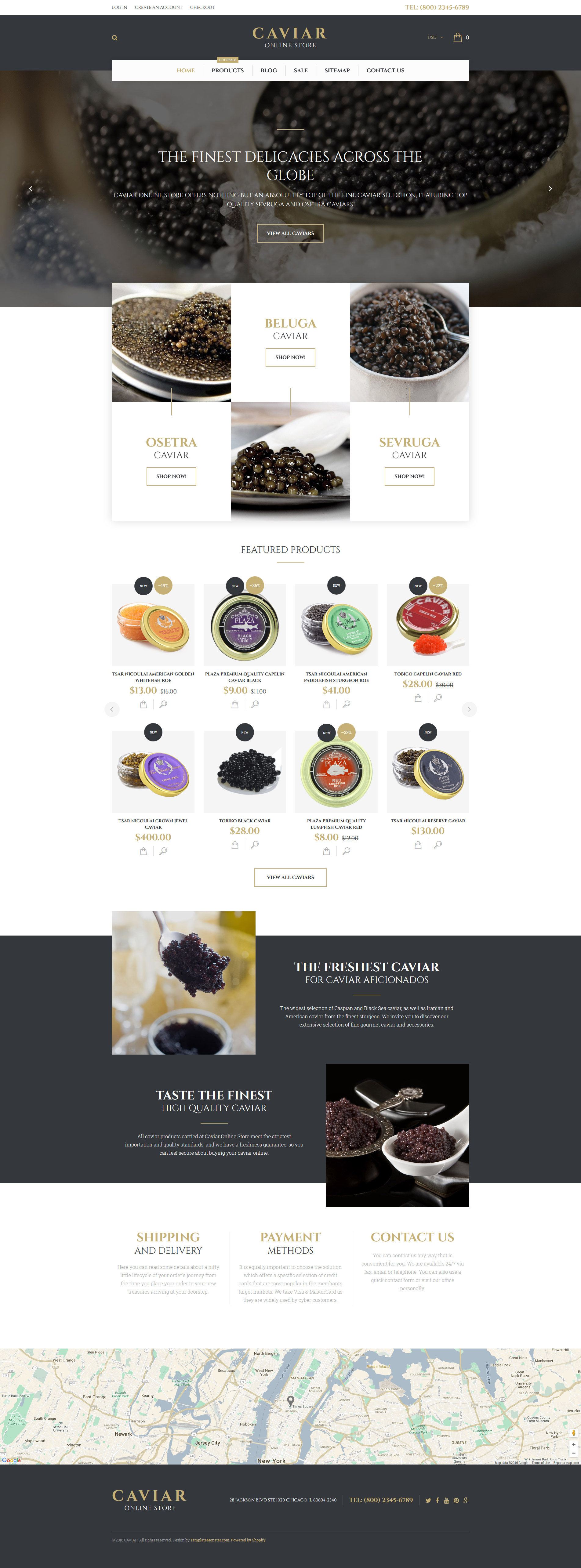 Caviar Shopify Theme - screenshot