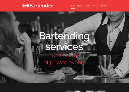 Cocktail Bar Responsive