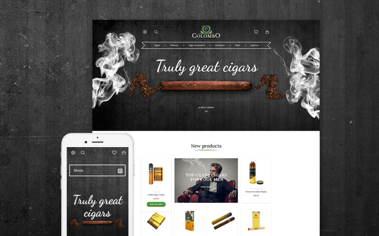 Colombo - Tobacco Responsive PrestaShop Theme New Screenshots BIG