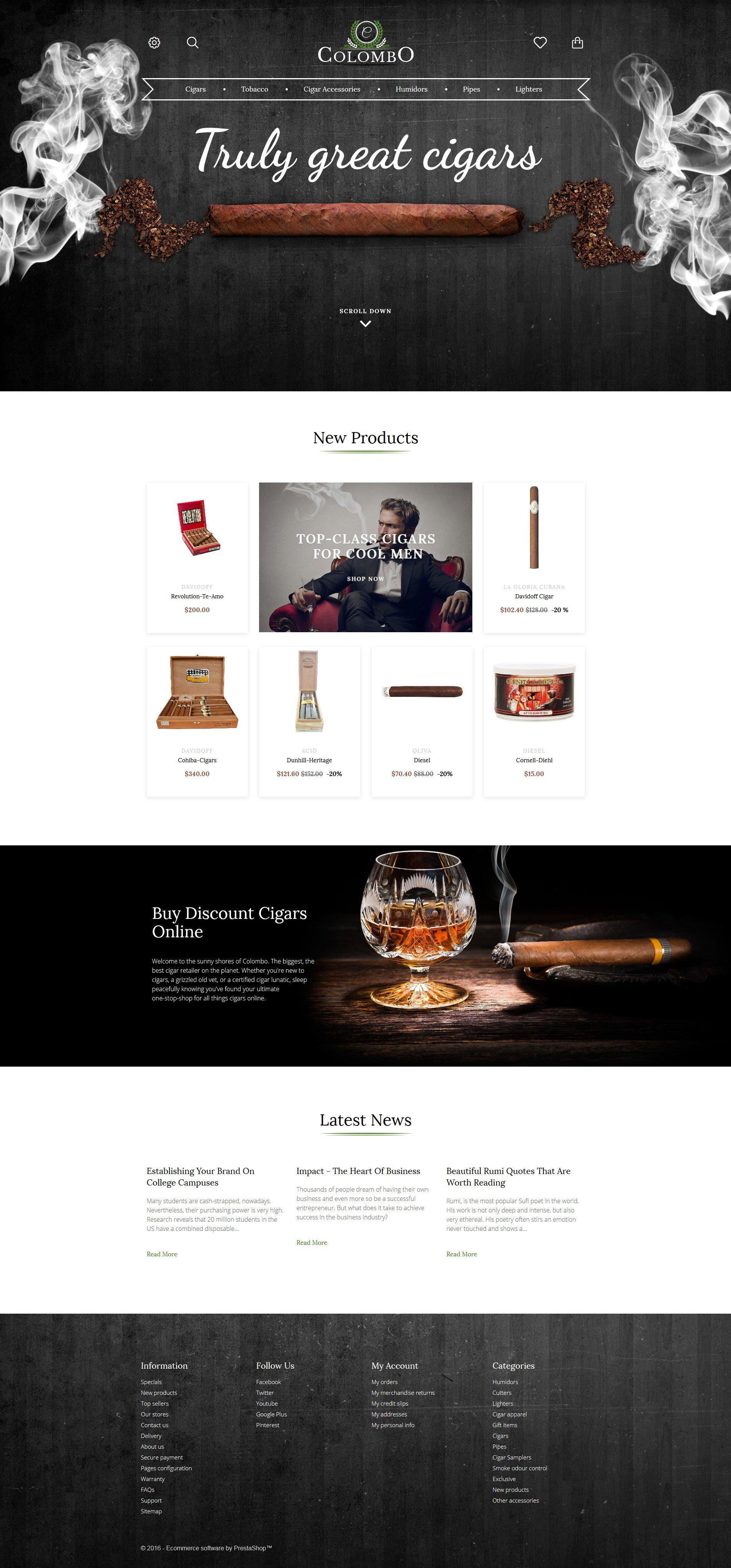 Colombo - Tobacco Responsive PrestaShop Theme