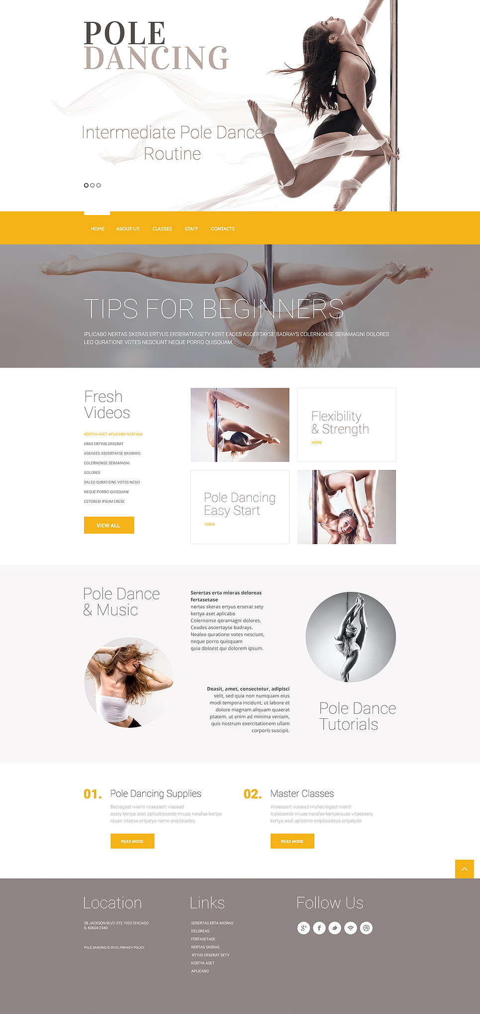 Dance Studio Responsive Website Template New Screenshots BIG