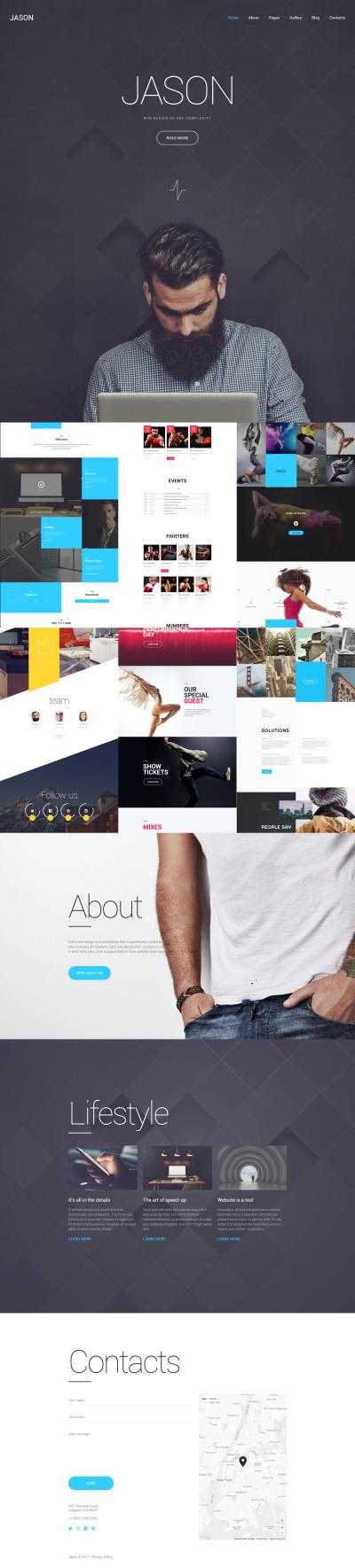 Designer Portfolio Responsive Templates Templatemonster