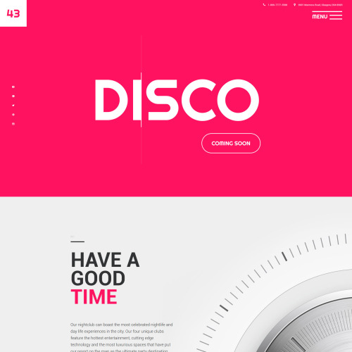 43B Disco - Website Template based on Bootstrap