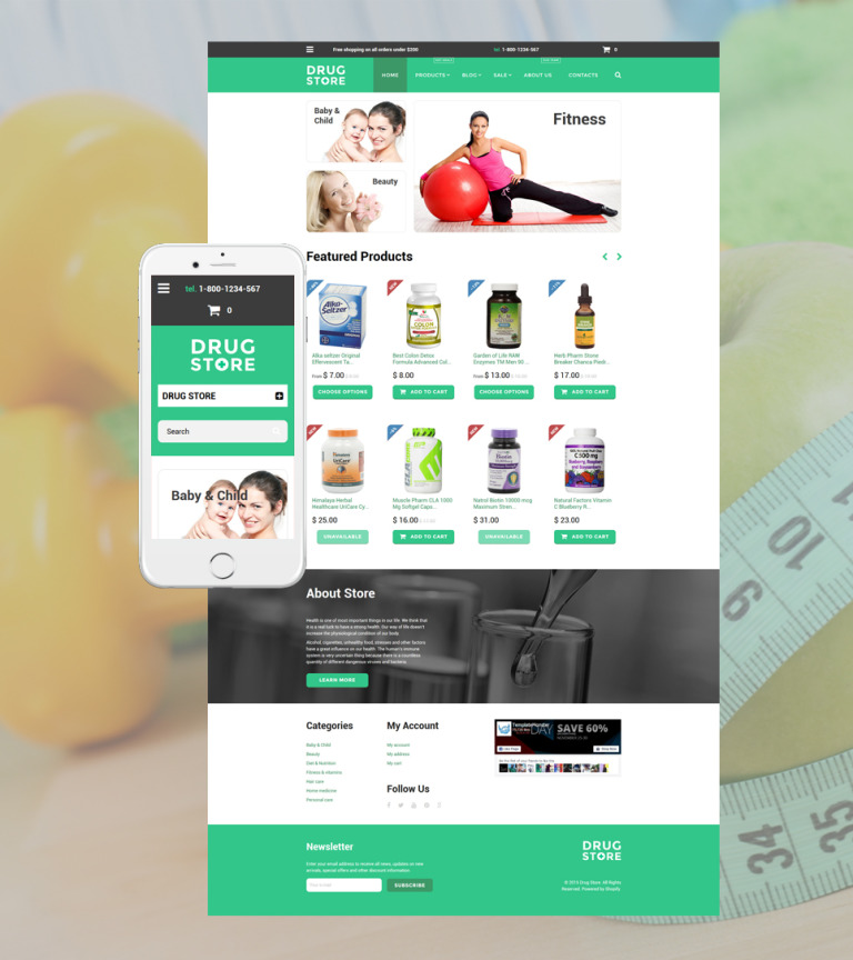 Drug store Shopify Theme New Screenshots BIG