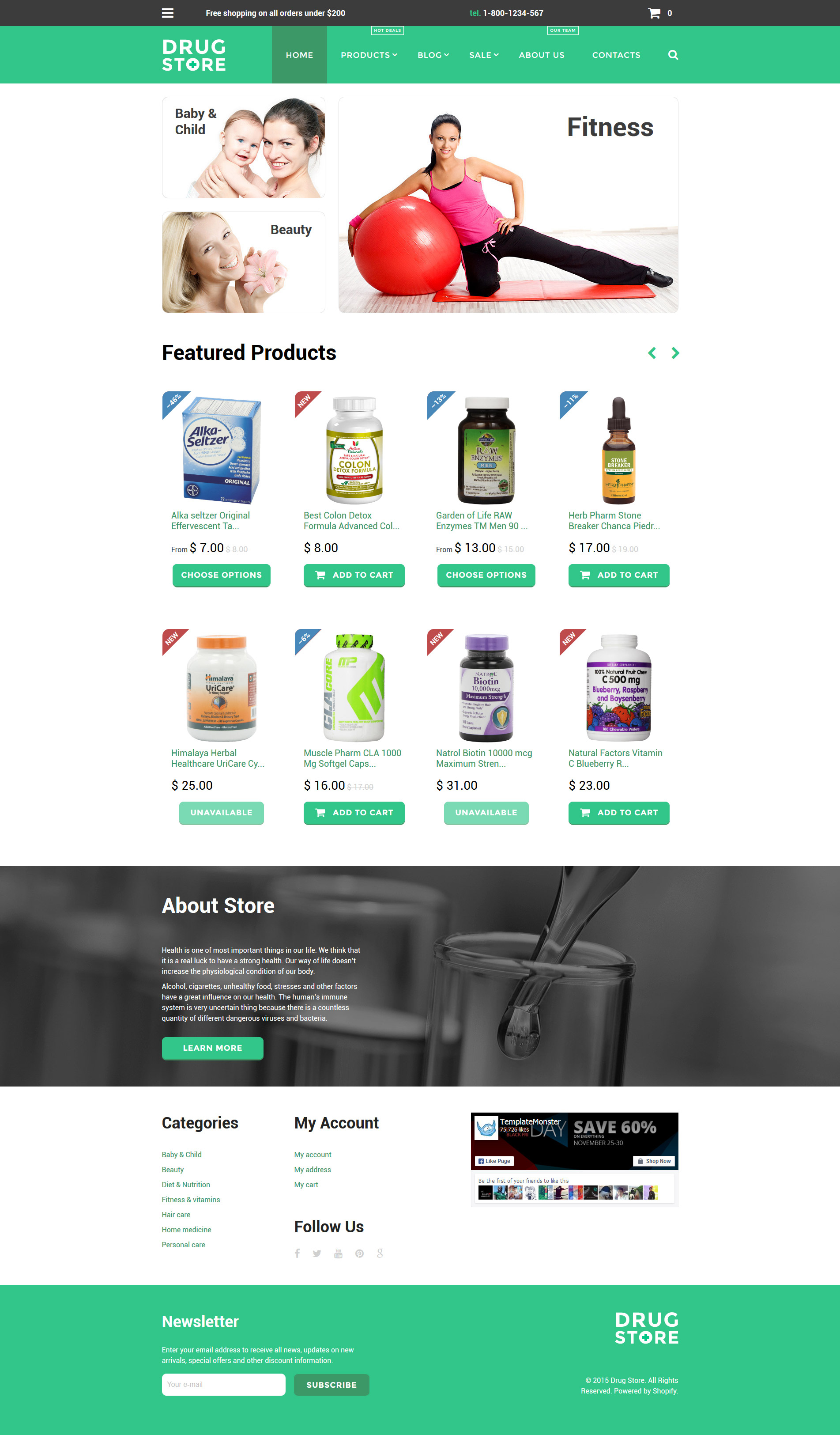 Drugstore Shopify Theme - Shopify store templates