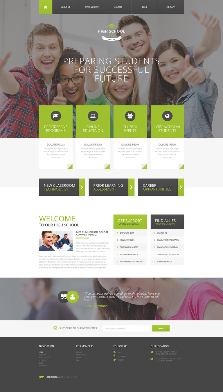 Education Responsive Drupal Template New Screenshots BIG