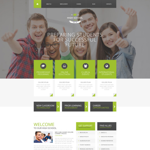 High School - Responsive Drupal Template