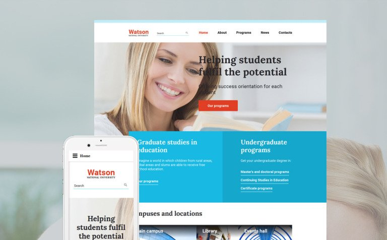 Online Higher Education Website Template