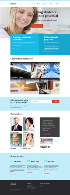 educational website templates