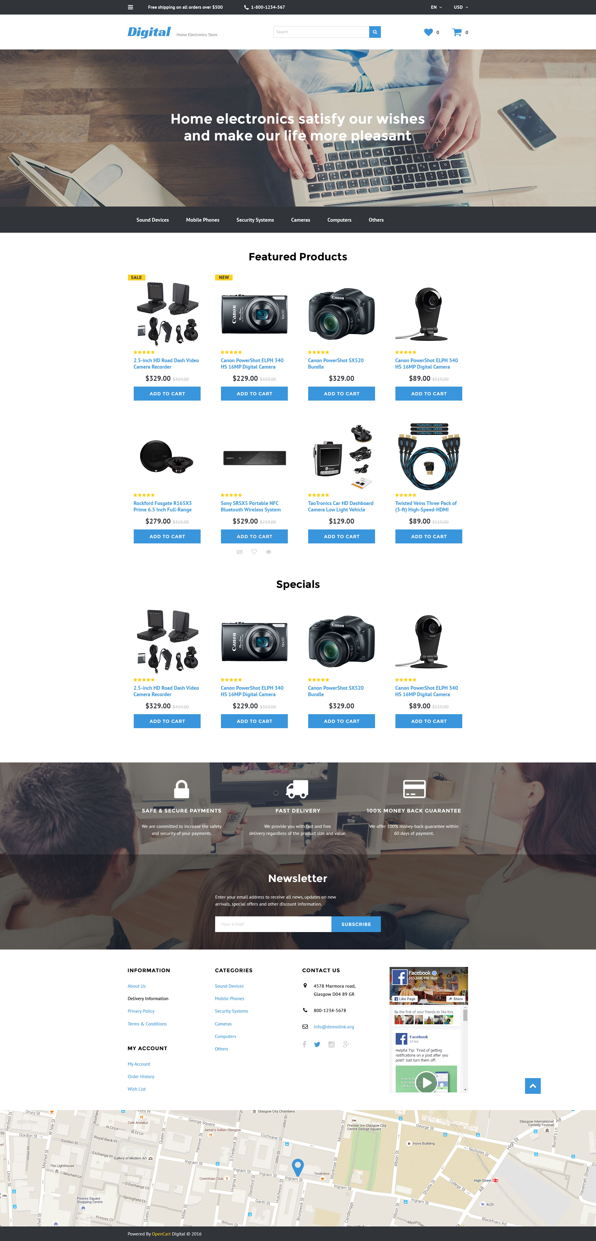 Electronic Store OpenCart Template - screenshot