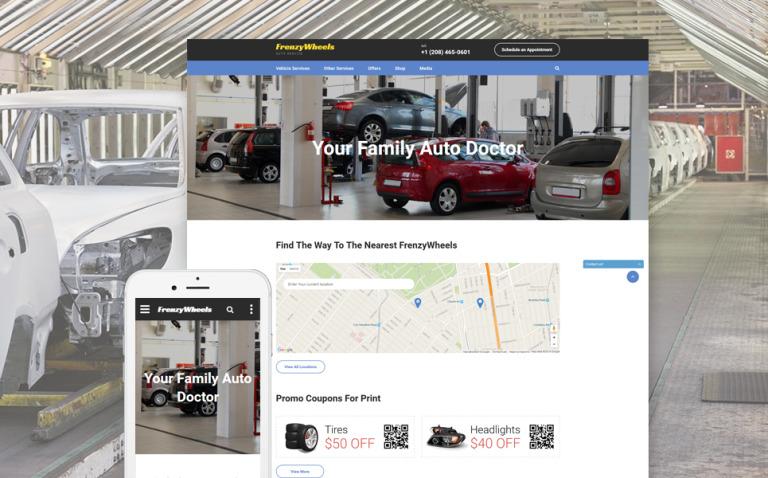 Frenzy Wheels Website Template New Screenshots BIG