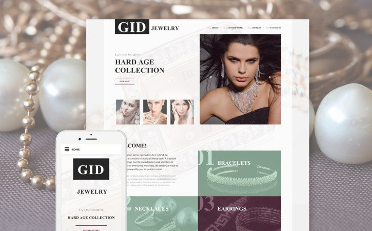 Gid Jewelry Website Template New Screenshots BIG