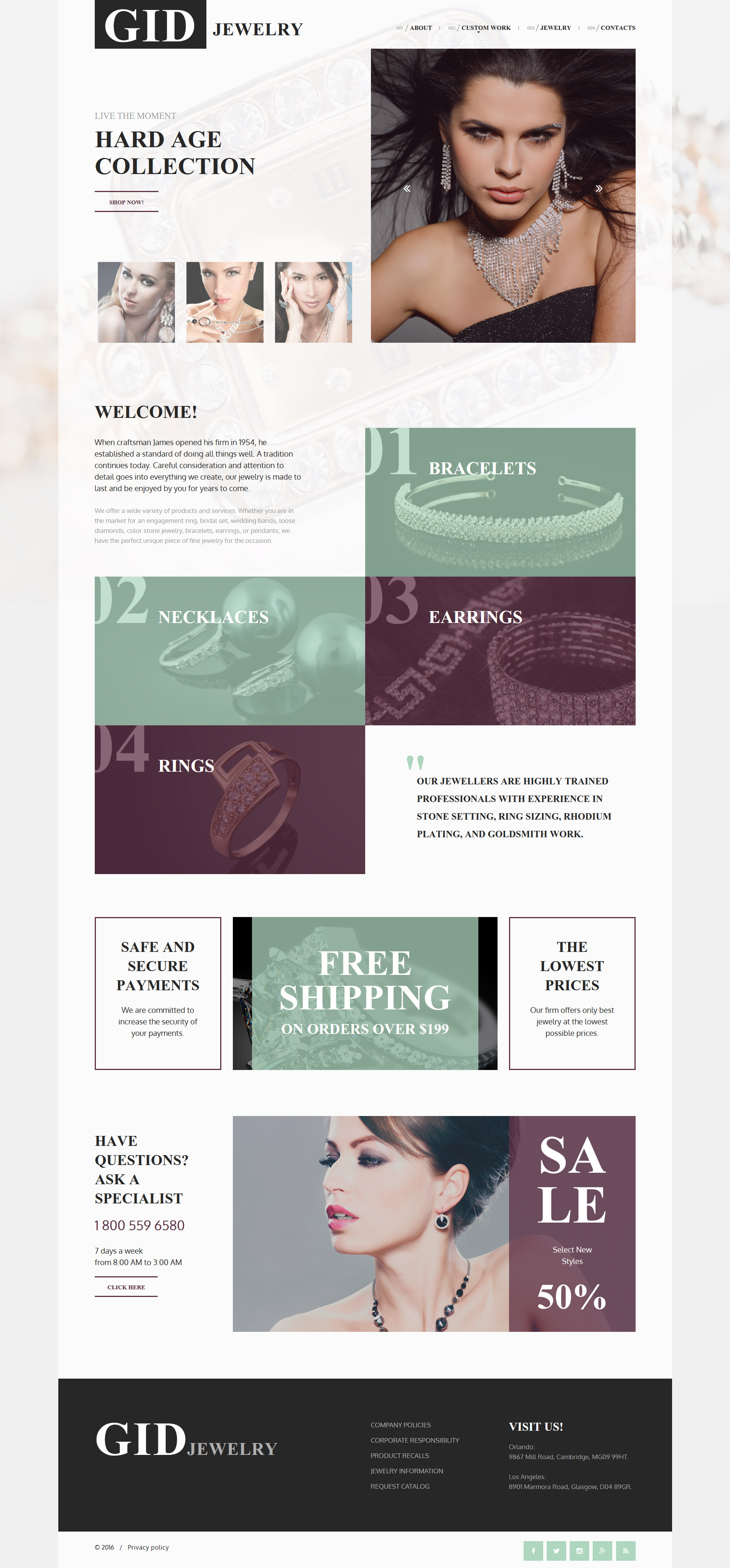Gid Jewelry Website Template - screenshot