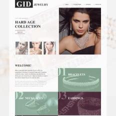 Jewelry Catalog Website Template - Jewellery website templates